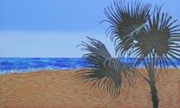 A la sombra de la palmera | 100x60 | Técnica mixta sobre DM