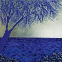 Azul, siempre azul | 50x50 | Técnica mixta sobre DM